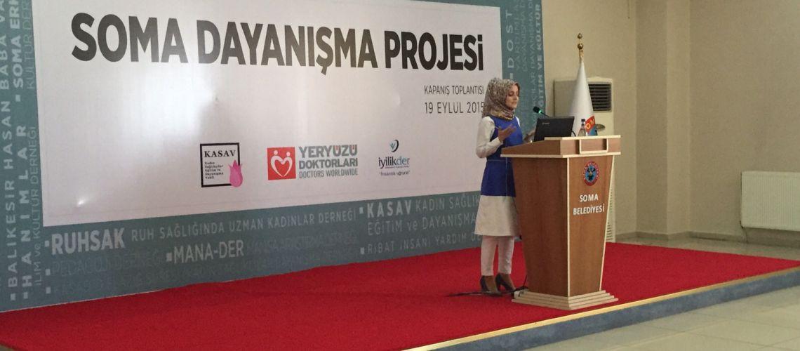 Özcan, Soma Dayanışma Projesinde Konuştu